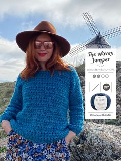 Crochet Jumper Pattern, Jumper Patterns, Virginia Woolf, Half Double Crochet, Single Crochet, Labor, Crochet Hooks, Waves, Sea
