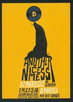 DJ MARCELLE  - ANOTHER NICE MESS - KRAFTFELD - 2016 - ORIG. FLYER