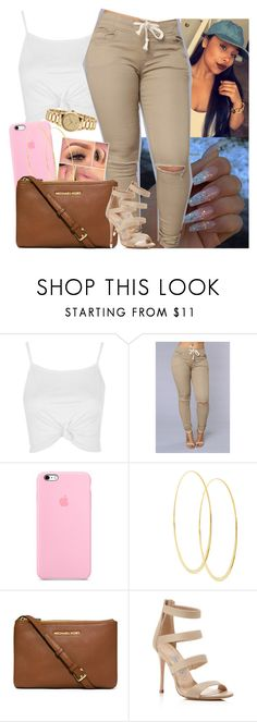 """Don't stop get it get it 😂"" by saucinonyou999 ❤ liked on Polyvore featuring Topshop, Lana, MICHAEL Michael Kors, Charles David and Gucci"