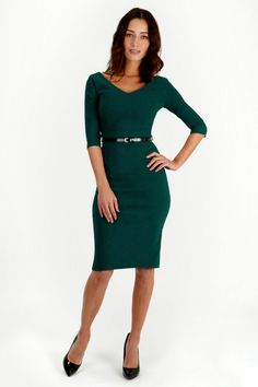 #vintage So Couture - Burbank Forest Pencil Dress