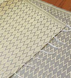 Silver & Cream Diamond Mingle Mat - Art & Sculpture Handmade in Africa - Swahili Modern - 2 Plastic Mat, Hand Weaving, Diamond, Silver, Christmas 2017, Handmade, Africa, Sculpture, Cream