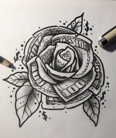Rose Drawing Discover you determine your fair price! Poste under this post your you determine your fair price! Poste under this post Gangsta Tattoos, Chicano Tattoos, Dope Tattoos, Badass Tattoos, Body Art Tattoos, New Tattoos, Tattoos For Guys, Irezumi Tattoos, Mini Tattoos