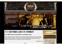 A simple layout and a good theme make this paranormal website what it is. A good layout example for a site.