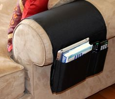 Chair Armrest Caddy Pocket Organizer