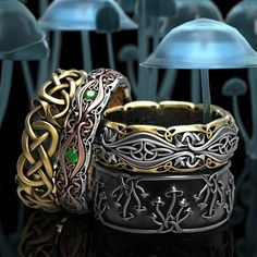 Introducing new Celtic mushroom rings from Celtic Eternity! Remarkably detailed rings crafted in gold and silver, each one individually made in Colorado! Support small business and show your love of mycelium as well!