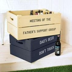Personalised Beer Storage Crate - This Father's Day, treat Dad to something he really wants — everlasting memories with you. invite Dad to the sporting event of the season — a night in with your favourite team, Britain's finest snacks and unique tipple or two.