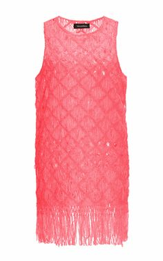 Akoto Macramé Shift Dress With Fringing by TABULA RASA Now Available on Moda Operandi
