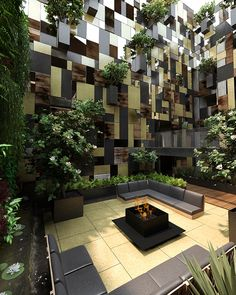 """These are some preview images of a building located in Polanco, in a """"L"""" shaped lot. Due to special circumstances there is almost no façade towards the stree..."""