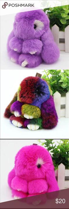 Adorable Cute /& Cozy Furry Baby Keychains Assorted Colors