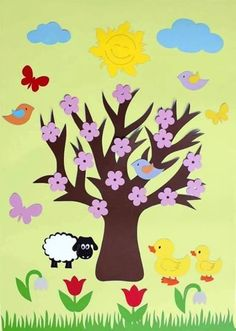 Season art activities for preschool Easter Craft Activities, Art Activities, Preschool Crafts, Easter Crafts, Leaf Crafts, Tree Crafts, Flower Crafts, Summer Trees, Spring Tree