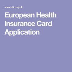 European Health Insurance Card Application
