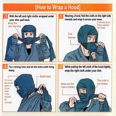 How to properly wrap a ninja hood – Now available in English! | RocketNews24