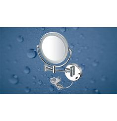 "Kich Bathroom Mirror with LED Light 8"" In Glossy Finish"