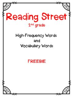 Reading Street, 2nd Grade, High-Frequency Words and Vocabu