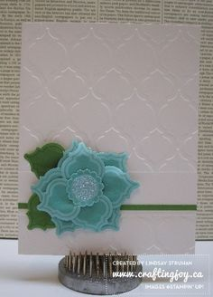 Cool flower with the Mosaic Madness stamp set, Mosaic punch and the Modern Mosaic Embossing Folder Mosaic Madness, Cool Cards, Cards Diy, Christmas Cards, Christmas Poinsettia, Embossed Cards, Beautiful Handmade Cards, Flower Cards, Creative Cards