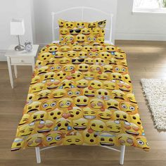 Emoji Expression Poo Duvet Quilt Cover Bedding Set Single Double Yellow Brown