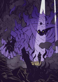 Armored Sasuke's Susanoo (version Eternal Mangekyō Sharingan)