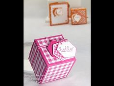 ▶ Stampin Up UK 2x2x2 Cube Fold Flat Favour Box - YouTube