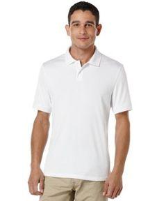 Perry Ellis Men's Two-Button Polo, A Macy's Exclusive  - White XXL