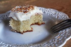 A proper Tres Leches cake is thirsty. Really thirsty. Each dry, pocket of cake crumb soaks up more milk than a stray kitten. Our version soaks up a little over 3 cups (!) of liquid as it sits in th…