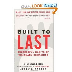 One of my favorite books of all time, outlining characteristics of great companies (also see Good to Great)