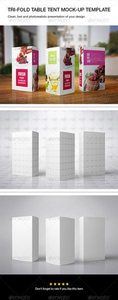 Tri-fold Table Tent Mock-up - Print Product Mock-Ups