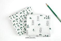 Bear and tree fabric Bear pattern Tree pattern Scandinavian Fabric, Tree Patterns, Cufflinks, Bear, Accessories, Bears