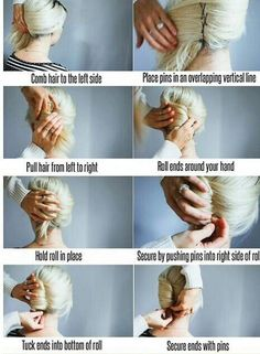 Easy french twist. Great updo More