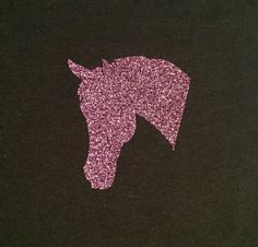 Glitter Horse Silhouette T-Shirt