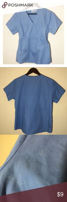 411c7bcd0fc Women's size M Landau scrub top Size M Landau scrub top in light blue. Signs