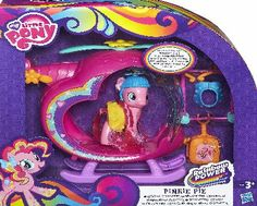 My Little Pony Pinkie Pie Rainbow Helicopter Up, up into the sky goes your Pinkie Pie figure. Your beautiful Pinkie Pie pony pal wants to take off into fun adventures in her colourful, heart-shaped helicopter vehicle. Dress her up in her propell http://www.comparestoreprices.co.uk/childs-toys/my-little-pony-pinkie-pie-rainbow-helicopter.asp