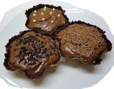 Tartaletas de mousse de chocolate