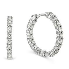 Roberto Coin 18k White Gold Diamond Hoop #Earrings from Borsheims for $4,500.