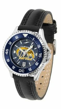 Kent State Golden Flashes Competitor Ladies AnoChrome Watch with Leather Band and Colored Bezel by SunTime. $85.45. Showcase the hottest design in watches today! A functional rotating bezel is color-coordinated to compliment the NCAA Kent State Golden Flashes logo. A durable, long-lasting combination nylon/leather strap, together with a date calendar, round out this best-selling timepiece.The AnoChrome dial option increases the visual impact of any watch with a stunning radial ...