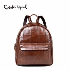 d7256a24c2a8 Cobbler Legend Original Brand Women Daily Backpack For Girls Genuine  Leather Backpack 2017 New Fashion Large Capacity Travel Bag
