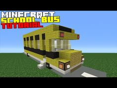 Minecraft Tutorial: How To Make A School Bus - YouTube