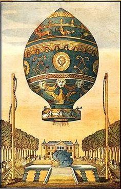 1783 Joseph & Étienne Montgolfier's Hot Air Balloon