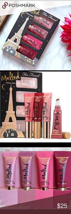 Too Faced Melted French Kisses Exclusive Set, New Too Faced Makeup