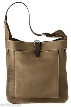 Hermes Marwari GM Taurrillon Clemence Leather in Etoupe, MSRP $3,800+