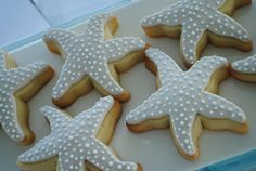 Elegant Nautical-Themed Christening Party - cookies