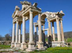 #anastylosis The restored Tetrapylon at Aphrodias, Turkey