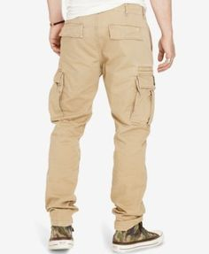 Denim & Supply Ralph Lauren Men's Slim-Fit Chino Cargo Pants - Black 30x32