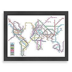 Americanflat Art Pause City Map 2 Wall Art