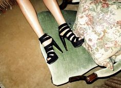 These boots weren't' meant for walking #inspiration #strappy #heels