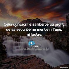 Celui qui sacrifie sa liberté au profit de sa sécurité ne mérite ni l'une ni l'autre. - http://cervonext.fr/ - Follow : @cervonext