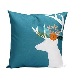 Iuhan Fashion Christmas Deer Pillow Case Sofa Waist Throw Cushion Cover Home Decor C ** See this great product. Note: It's an affiliate link to Amazon