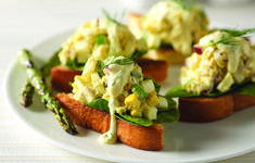 Crab & Roasted Asparagus Egg Salad