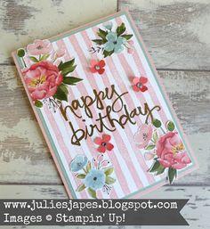 Julie Kettlewell - Stampin Up UK Independent Demonstrator - Order products 24/7: Creation Station Spring Flowers