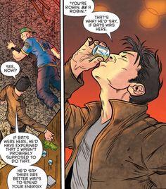 Robin War #1 - Jason Todd. he's so drunk if batman were here he'd kick your ass.