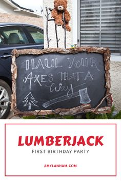 Last week I shared with you Bug's Lumberjack cake smash and this week I'm so excited to share Part 1 of his Lumberjack First birthday party! I made so much decor and took so many pictures that it all wouldn't […] Lumberjack Wedding, Lumberjack Cake, Lumberjack Birthday Party, Wild One Birthday Party, Baby Boy Birthday, Birthday Bash, First Birthday Parties, First Birthdays, Birthday Party Themes
